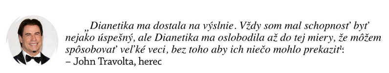 Dianetika-skusenosti - John Travolta